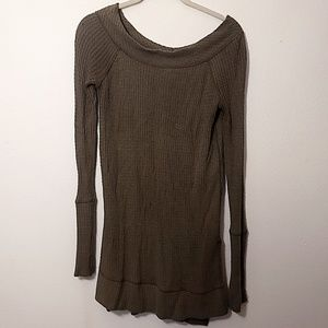 We the Free | Olive Green Thermal Tunic Shirt - S